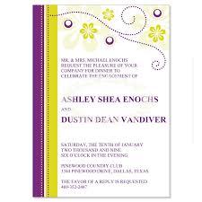 purple u0026 yellow engagement party invitation templates crystal
