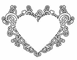 elegant valentine heart coloring pages coloring