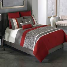 Black And Red Comforter Sets King Red And Gray Bedding Sets Ktactical Decoration