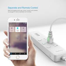 touch l on off plug in control wi fi enabled smart outlet koogeek com