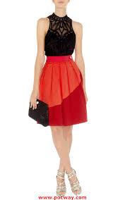 bcbg blue dress decent karen millen sn073 colour contrast skirt