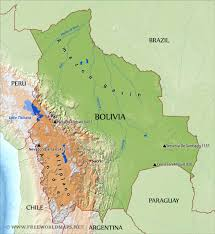 chile physical map bolivia physical map