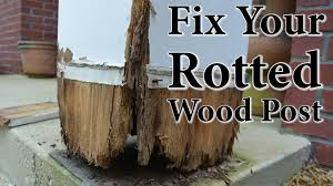 Front Porch Column Covers by Diy Porch Post Repair Fix Your Rotted Wood Post Youtube