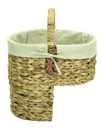 natural woven water hyacinth wicker stair step storage basket with