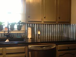 Interior  Metal Backsplash Peel And Stick Backsplash Kitchen - Corrugated metal backsplash