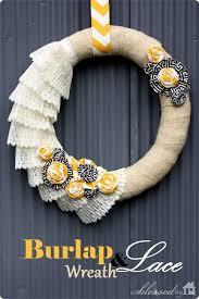 diy wreaths diy burlap and lace wreath