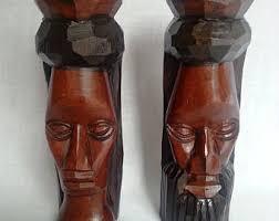 jamaican wood sculptures jamaican sculpture etsy