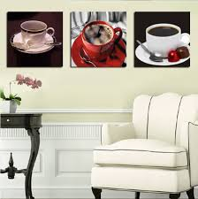 Home Decor Canvas Art 3 Panels Coffee Kitchen Wall Art Painting Home Decor Canvas