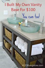 Modest Fine Build Your Own Bathroom Vanity Best  Diy Bathroom - Design your own bathroom vanity