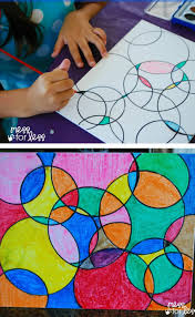 watercolor circle art watercolor eye and craft