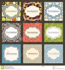 Editable Invitation Cards Free Download Invitation Card Design Template Set Editable Layouts Stock Vector