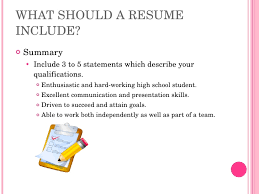 high school resume resume writing high school
