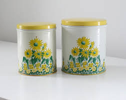 yellow kitchen canisters vintage kitchen canisters etsy