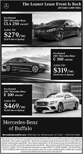 mercedes ads loaner lease event is back mercedes benz of buffalo buffalo ny