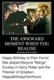 Harry Potter Birthday Meme - the awkward moment when you realise aunt marge is miss trunchbull
