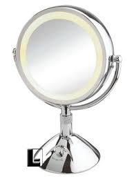 conair lighted vanity mirror conair 9 inch lighted vanity mirror 5x 1 2x chrome lodgingkit com