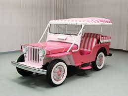 white and pink jeep hemmings find of the day 1960 jeep dj 3 surrey hemmings daily