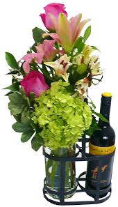 flowers wine with wine 105 00 gift baskets halifax scotia