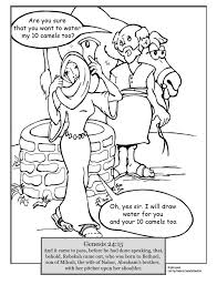 abraham and isaac coloring page isaac and rebekah coloring page and omeletta me