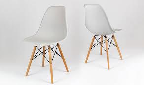 chaise eames grise chaise contemporaine gris clair inspirée de charles eames