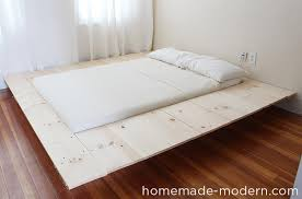 Easy To Build Platform Bed With Storage by Look Inside The Homemade Modern Book