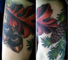 oak leaf tattoo pictures to pin on pinterest tattooskid