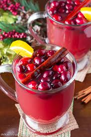 cranberry punch deliciously sprinkled
