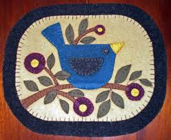 free printable penny rug patterns patternmart bluebird on