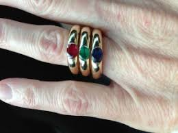 cartier rings ebay images New to me cartier ellipse ruby sapphire emerald ring set jpg