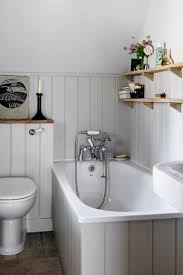 panelled bathroom ideas grey tongue and groove panelling small space design ideas