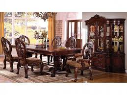 cherry dining room sets emory heights cherry 5 pc round dining room sets regarding table