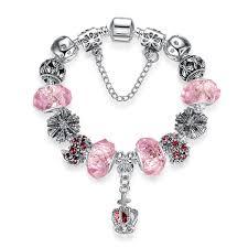 murano glass beads charm bracelet images European fashion charm bracelet with murano glass beads jpg