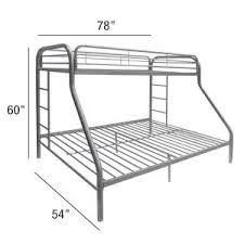 White Metal Bunk Bed Acme Furniture Tritan Silver Metal Bunk Bed