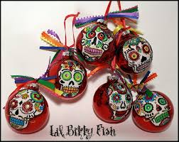 dia de los muertos ornament sugar skull in by lilbittyfish on