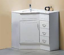 Bathroom Corner Sink Unit New 900x600mm Poly Marble Top Corner Bathroom Vanity Left Side