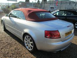 audi a4 convertible s line for sale used audi a4 2 0t fsi s line cabriolet manual 6 black leather