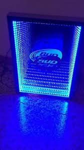 bud light lighted sign new bud light infinity mirror neon type lighted led sign bar beer