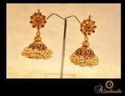 Buy Alankruthi Pearl Necklace Set Buy Alankruthi New Gold Temple Jhumkas 33 Online