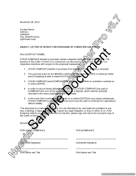 letter of intent for purchase of computer equipment u2013 lawyer com au
