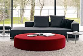 contemporary ottoman fabric leather round harry large