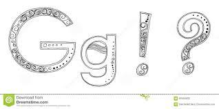 symbol heart star vanda freehand pencil sketch font stock