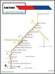 Metro Light Rail Map by The Houston Light Rail System