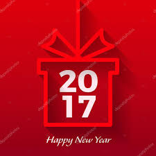 new year box happy new year 2017 vector text graphic design in gift box with