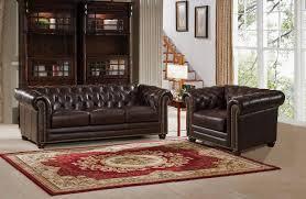 amax kensington 2 piece leather living room set wayfair