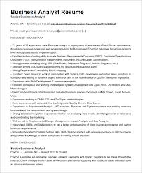Qa Analyst Resume Sample by Business Analyst Resume Examples Template