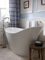 drop bathtub design ideas pictures tips from hgtv mediterranean style bathroom with copper soaking tub