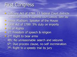 the washington presidency the first president the first congress
