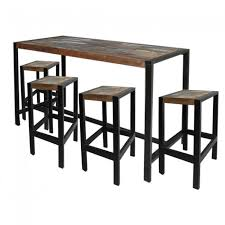 Industrial Bar Table Reclaimed Timber Industrial Home Bar Setting Set Table