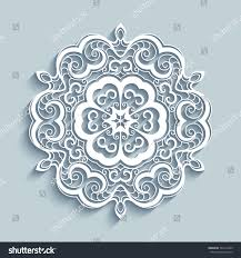 cutout paper lace doily decorative snowflake stock vector