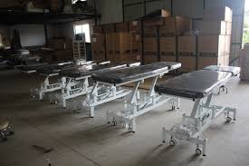 used medical exam tables 2 section hi low electric treatment table used medical examination
